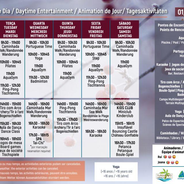 Daytime Entertainment  01/12 – 22/12