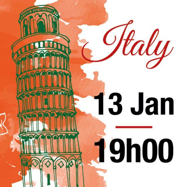 jan 13 – Italian Party