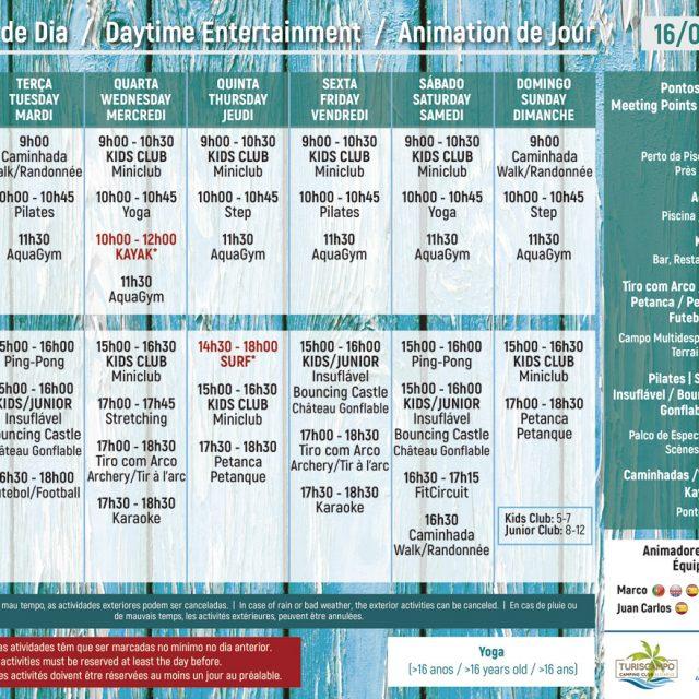 Daytime Entertainment 16/09 – 29/09